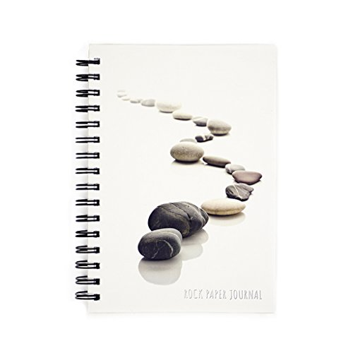 Made By Humans Rock Paper Journal - Eco-Friendly Stone Paper Spiral-Bound Notebook - Hardcover - 200 Blank Pages (8.5