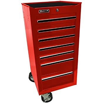 Amazon Com 18 Inch 7 Drawer Glossy Red End Cabinet For