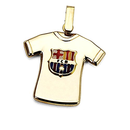 Pendentif F.C. or 18k sterling Barcelone chemise arborant [AA7220] - Modèle: 10-152-LG