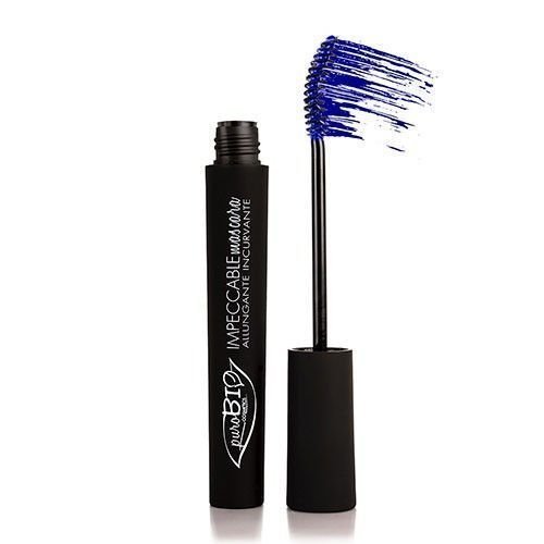PuroBIO Certified Organic IMPECCABLE MASCARA - Curving and Lengthening, Blue. ORGANIC. VEGAN. NICKEL TESTED. MADE IN ITALY