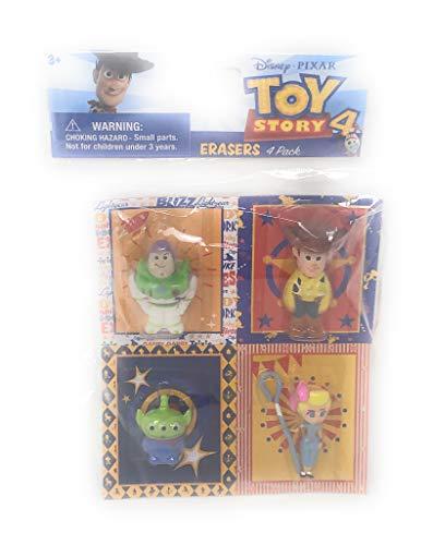 (Pixar Disney Toy Story 4 Eraser Set ~ Pack of 4)