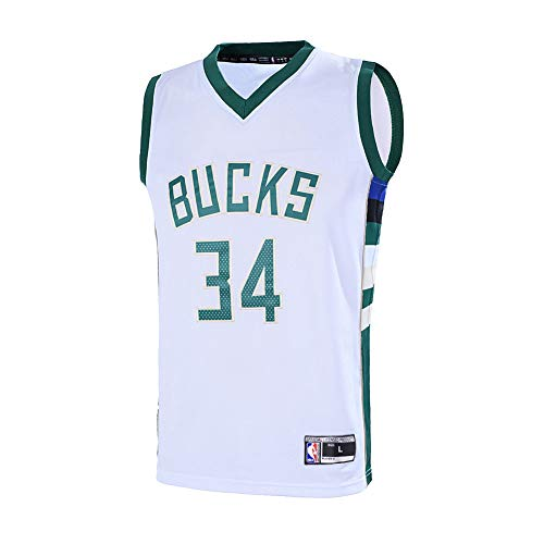 Outerstuff Youth 8-20 Milwaukee Bucks #34 Giannis Antetokounmpo Jersey (Youth Small 8, White)