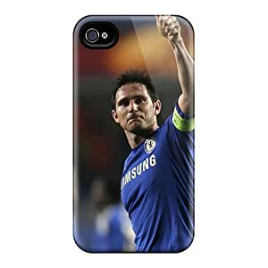 Scratch Protection Hard Phone Case For Iphone 4/4s With Provide Private Custom Stylish The Halfback Of Chelsea Frank Lampard Pattern InesWeldon