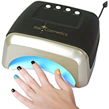 Star Cosmetics, 60W LED UV Lamp, Professional For Nail Gel Polish, For Fingernail & Toenails, Auto Sensor 15.30.60.90 Timer Setting, Speicial Black & Gold Design, Free Gift With Purchase .