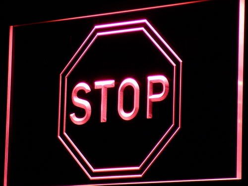 ADVPRO Cartel Luminoso i739-r Stop Sign Bar Home Decor New ...