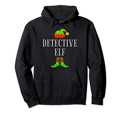 Detective Costume Ideas (Detective Elf Costume Funny Christmas Xmas Holiday Matching Pullover)