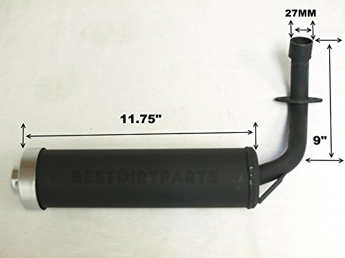 NEWANIME(R) HIGH PERFORMANCE 110CC MUFFLER EXHAUST PIPE FOR GO KART CART M12