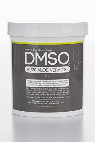 Dmso Aloe Vera (70/30 Pharma Grade DMSO Gel w/ Aloe Vera Super Biologic- 1 pound (16 oz))