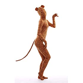 - 41WLCkcw9 L - Animal Costume Leopard Pretend Play Rabbit Ear Kids Zentaisuit Lycra Spandex Bodysuit