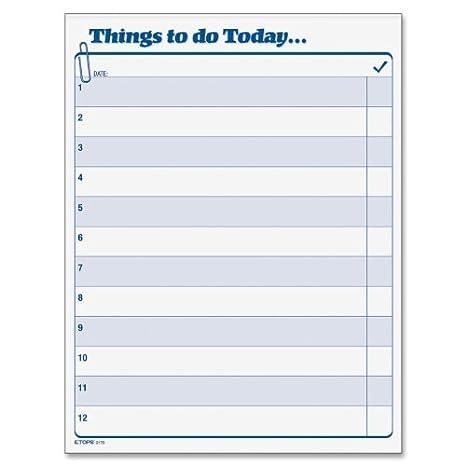 Amazon.com: Daily Agenda Qué hacer hoy Pad, 8,5 x 11 ...