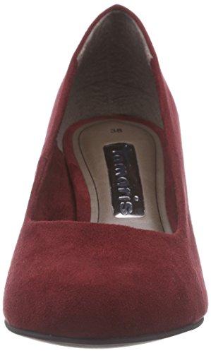 Tamaris 22442 - zapatos de tacón cerrados de material sintético mujer rojo - Rot (Merlot 537)