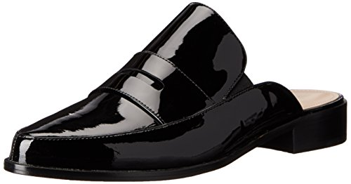 Black French Louis Connection Black Women's Patent Flat 1xvxg0wr
