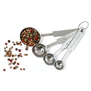 New Stainless Steel Kitchen Spice Baking Cooking Measuring Spoons 4pc