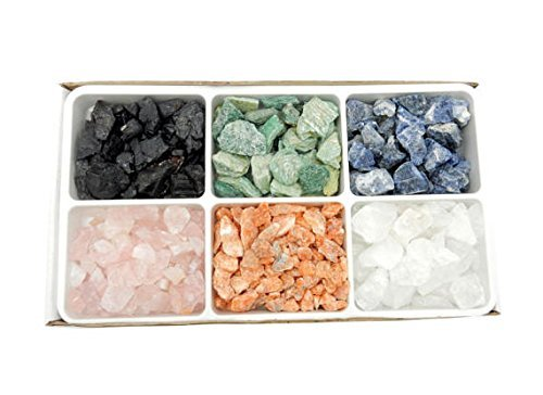 Crystals & Healing Stones Set - Premium Healing Crystals Gift Kit in Box - Chakra Set Natural Stones - Rustic Home Decorations Collection Assorted