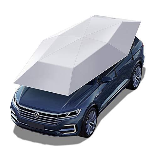 (Car Umbrella Sun Shade, Semi-Automatic Car Tent, Movable Carport, Folded Portable Car Canopy Cover, Anti-UV, Water-Proof, Proof Wind, Snow, Storm Hail,157.5 Ft,Gray)