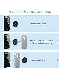 Placa de metal de montaje Paquete de 5, universal Disco de Metal con calcomanía fuerte de repuesto para soporte magnético de teléfono celular soporte de coche GPS 5 redondo
