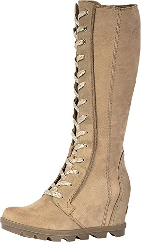 Tall Shaft Fashion Boot - Sorel Women's Joan of Arctic¿ Wedge II Tall Ash Brown Full Grain Leather/Nubuck Combo 12 B US