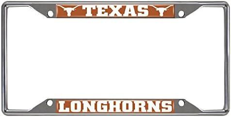 Texas Longhorns NCAA Rico Industries Laser Cut Inlaid Standard Chrome License Plate Frame