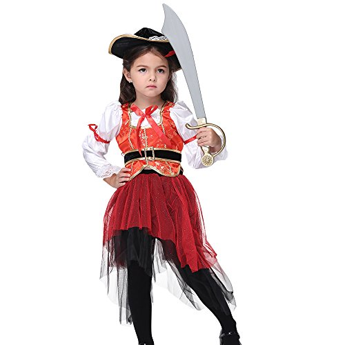 Uleade Baby Girl's Red Punk Pirate Toddler Halloween -