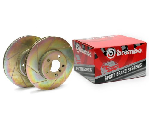 - Brembo Sport Slotted Brake Rotors 33S60039