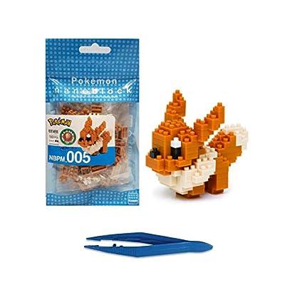 Nanoblock Eevee Pocket Monsters + Gift Tweezers Plastic Cube Building Blocks (Smartoys): Toys & Games