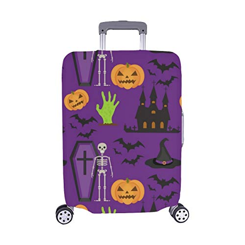 Halloween Scary Repeating Texture Spandex Trolley Case Travel Luggage Protector Suitcase Cover 28.5 X 20.5 Inch]()