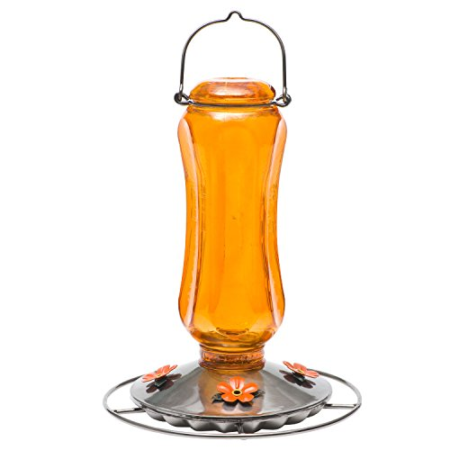 Feeder Hummingbird Hanging Blossom (Perky-Pet Carnival Glass Vintage Oriole Feeder 8135-2)