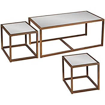 Attirant Southern Enterprises Nested Cocktail And End Table Set Of 3, Antique Bronze  Finish