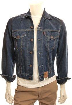 Levi S Chaqueta Hombre Jeans Red Tab Mod 70500 100% algodón Slim Fit Denim