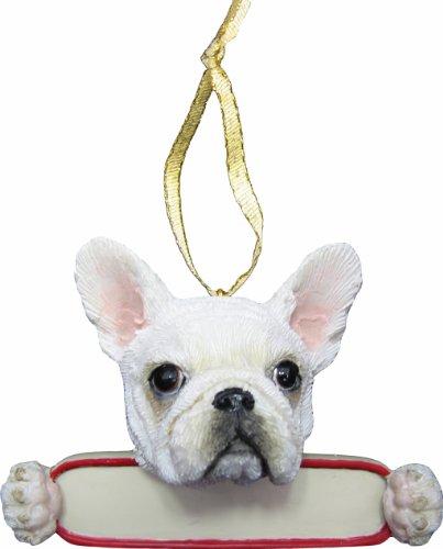 - French Bulldog Ornament White