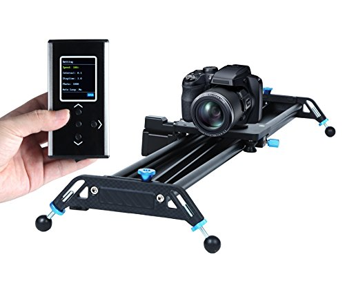 Motorized Camera Slider Dolly Video Track with Time Lapse Duration and Auto Loop Track System and Wide Angle Shot Aviation aluminum A&J - Min Battery Charger 30