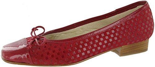 Rouge féminines et Suede ballerine confortable Andros brevets Riva Chaussure U8zwzS