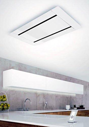 GALVAMET EDGE 100/F - Cubierta para techo (100 x 60 cm, eficiencia energética A, mando a distancia, tira LED, salida de aire), color blanco: Amazon.es: Hogar