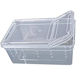 Zeroyoyo Transparent Plastic Box Insect Reptile Transport Breeding Feeding Box