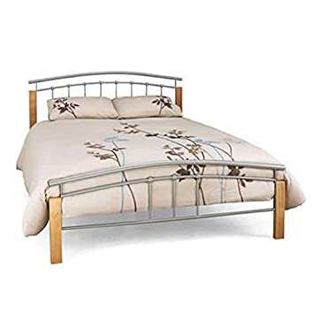 Tetras 4Ft Silver Beech Small Double Bed Frame Amazoncouk