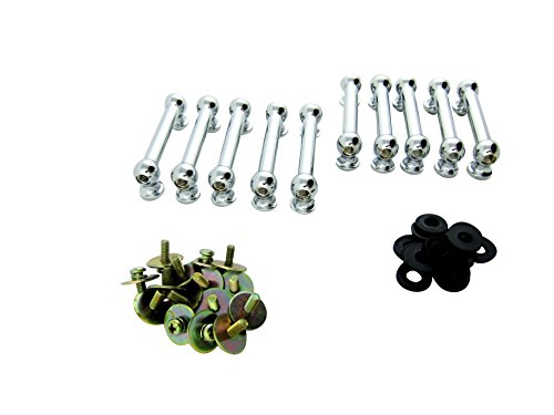 Goedrum 10 Double End Tube Drum Lugs with Mounting Screws - 50.8mm - Chrome on - Hardware Drum Lugs