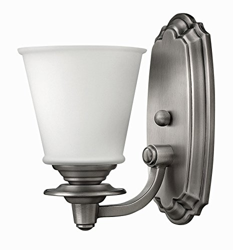 Hinkley 54260PL Traditional One Light Bath from Plymouth collection in Pwt, Nckl, B/S, - Bath Plymouth Lighting