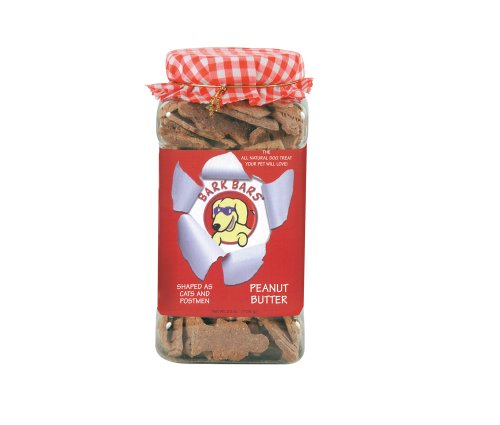 Bark Bars Plastic Canister Peanut Butter Pet Treat, 2.5-Pound ()