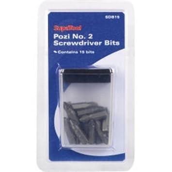 Pozi No. 2 Juego de puntas de destornillador - Pack de 15 ...