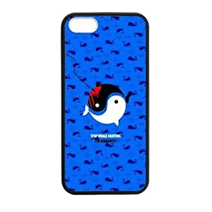 Blue cartoon Dolphin Plastic and PC cover for iPhone5 iPhone5S Case