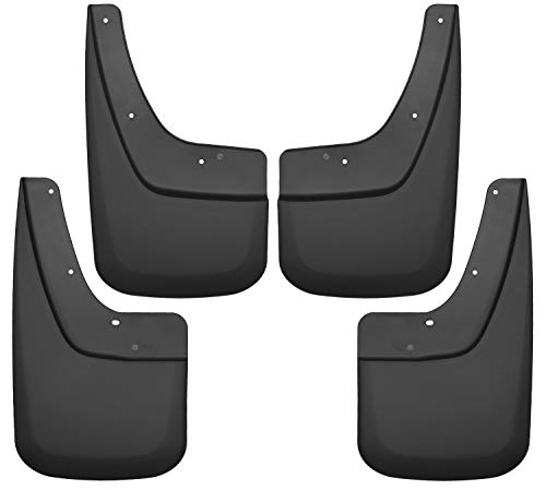 Husky Liners 56896 Black Front and Rear Custom Mud Guards Fits 14-18 1500, 15-19 2500/3500, 2019 Sierra 1500-Single Wheels, 4 Pack