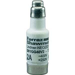 Mersen Neozed Uso de copia de seguridad d02gg40V63D02, 63A Cobre D0Uso de copia de seguridad 4086500010134