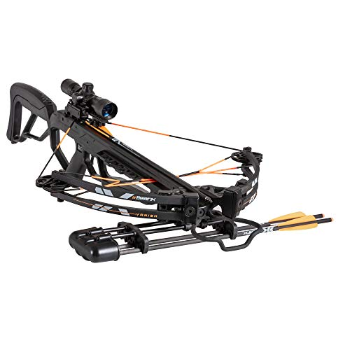 Bear X Vanish Ready-to-Hunt Crossbow Package with Scope, Quiver, Bolts, Cocking Rope, and Wax