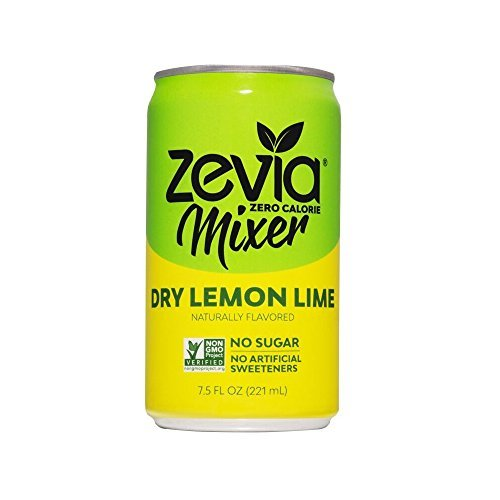 Zevia Dry Lemon Lime, 7.5 Ounce Can (12 Count) Zero Calories or Sugar, Naturally Sweetened with Stevia Leaf Extract, A Perfect Drink Mixer (Packaging May Vary)