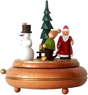 La Navidad de la caja musical 18 montañas musicales del mineral del reloj del cm NUEVAS: Amazon.es: Hogar