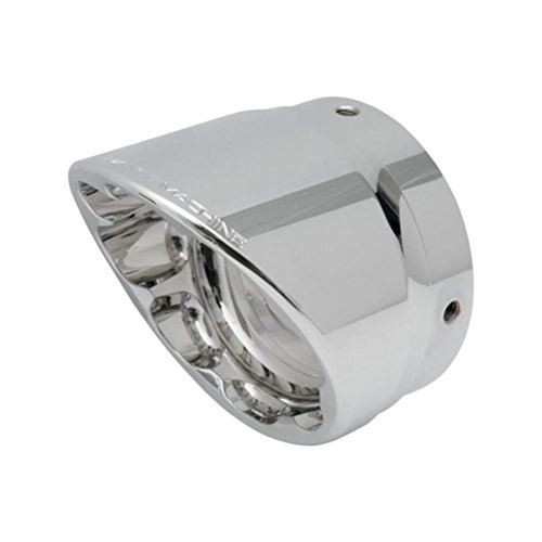 Performance Machine Elite Exhaust End Cap for Screamin Eagle 4in. Slip-On - Slash - Chrome 02042017SLA-CH ()