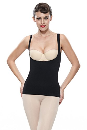 Franato Women's Shapewear Wear Your Own Bra Torsette Tank Top Vest X-Large Black (Best Wear Your Own Bra Shapewear)