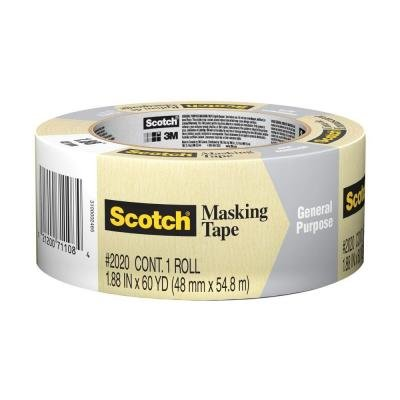 Scotch 1.88 in. x 60.1 yds. Painting Production Masking Tape (Pre Mask Tape Applicator)