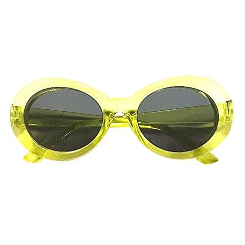 Women Sunglasses, Paymenow Unisex Retro Round Frame Mirror Sunglasses Fashion Oval Shades Glasses (E) ()