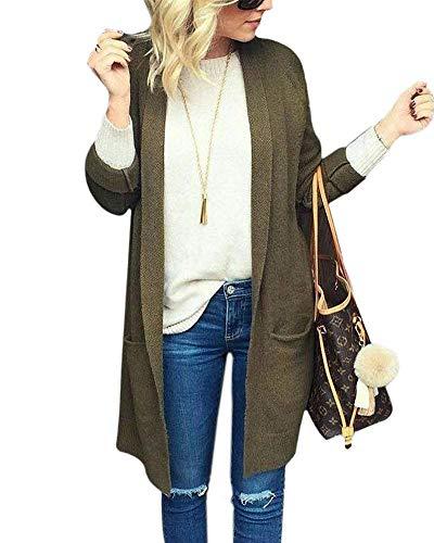 Cardigan Automne Fit Tricot Blouson en Longues V Femme Casual Confortable Slim Printemps Veste Vintage Rw0UqrRngx